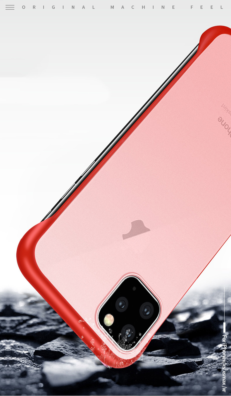 Frameless Slim Matte Hard Back Cases for iPhone 11/11 Pro/11 Pro Max 9