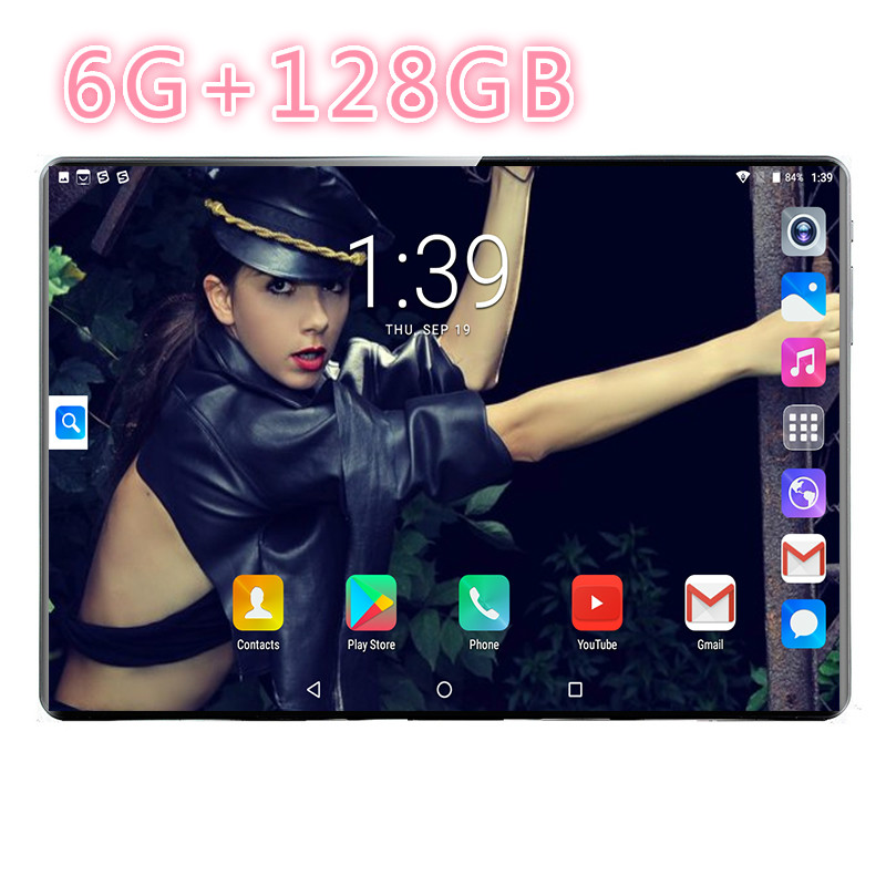2020 Free Shipping 10 Inch Tablet Pc Android 8.0 10 Core 6GB+128GB 5MP Camera 1280*800IPS Dual SIM Card WIFI GPS Tablet 4G Phone