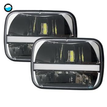 "5 x 7 inchBlack Projector LED Headlight  7""x 6""Headlight for Jeep Wrangler YJ Cherokee XJ H6054 H5054 H6054LL 69822 6052 6053."
