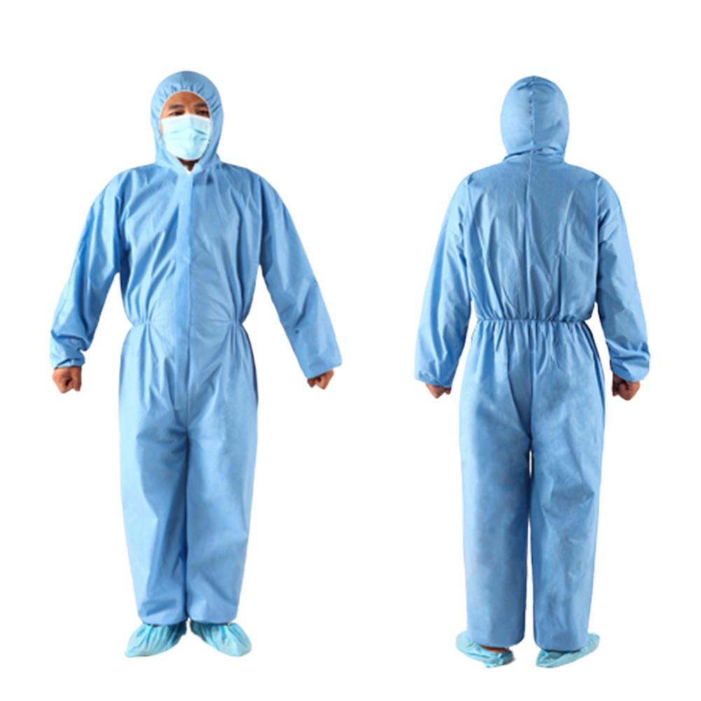 Unisex Disposable Non Woven Zip Isolation Gown Overall Coverall Protective Suit Isolation Gown Overall Coverall Protective Suit