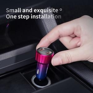 Image 5 - Baseus 45W Auto Ladegerät Dual USB Typ C Handy Ladegerät Metall Auto Lade QC 3,0 4,0 Schnell Ladung für iPhone Samsung Huawei
