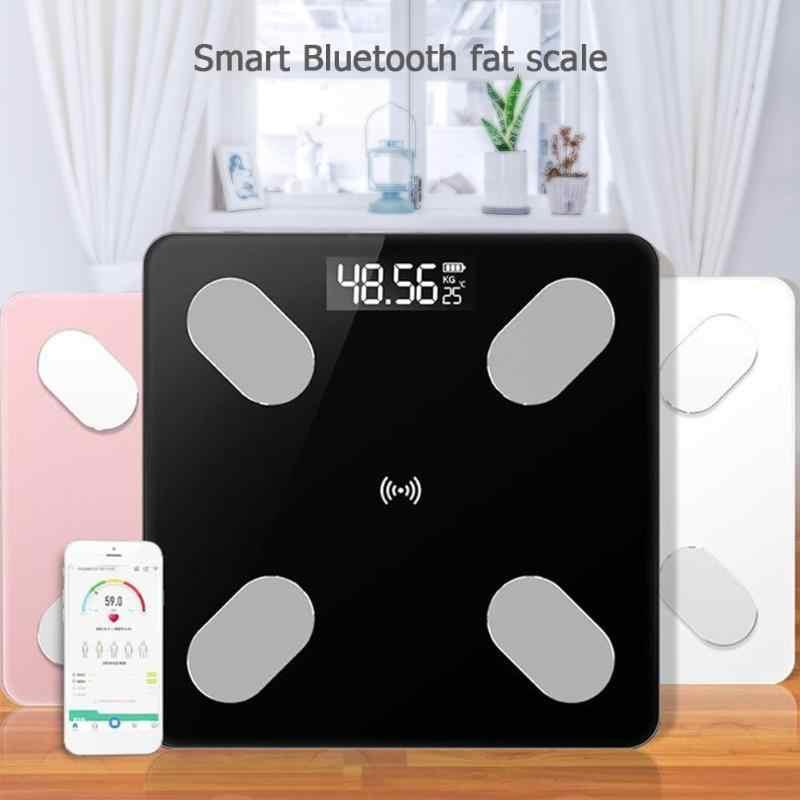 Balances intelligentes électroniques précises 0.1-360kg échelle de poids de salle de bains numérique graisse/Muscle/graisse viscérale balance Bluetooth APP