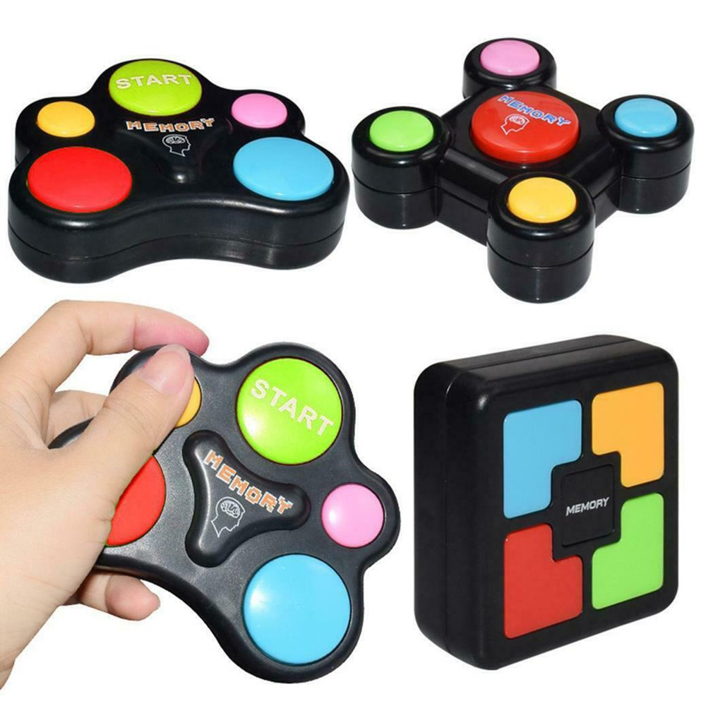 Children Puzzle Memory Game Console LED Light Sound Interactive Toy Training Hand Brain Coordination