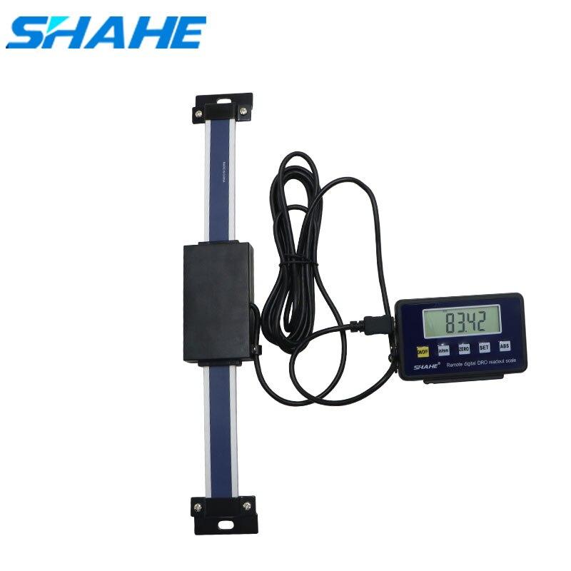 Цифровые линейные весы shahe 0-150/200/300 мм с дистанционным управлением, таблица показаний, весы для Бриджпорта, фреза, фотолинейка с основанием д...