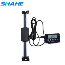 Shahe 0-150/200/300 milímetros Escala linear Digital de Controle Remoto Escala de Leitura de Mesa para Bridgeport Moinho Torno Régua Linear com Base de LCD