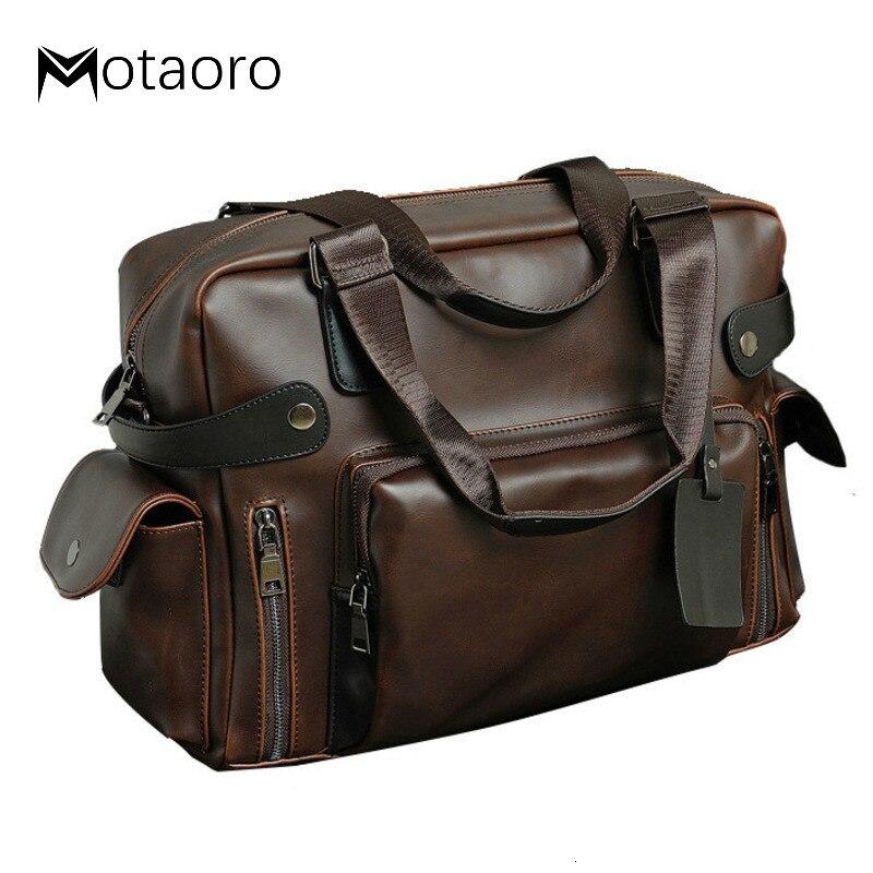 2020 New Vintage Briefcase Men Leather Bag Handbag Messenger Bags Business Coffee Laptop Man Maleta Bags Bolso Hombre Sac Homme