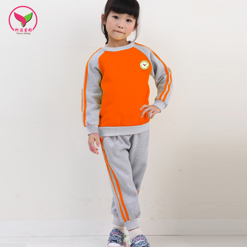 Spring And Autumn New Style Clothes Kindergarten Primary School STUDENT'S Child School Uniform Primary Class Business Attire Tig