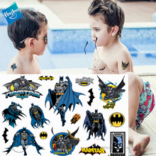 Hasbro Batman Spiderman Marvel Children Cartoon Temporary Tattoo Sticker For Boys Toys Waterproof Party Kids Gift