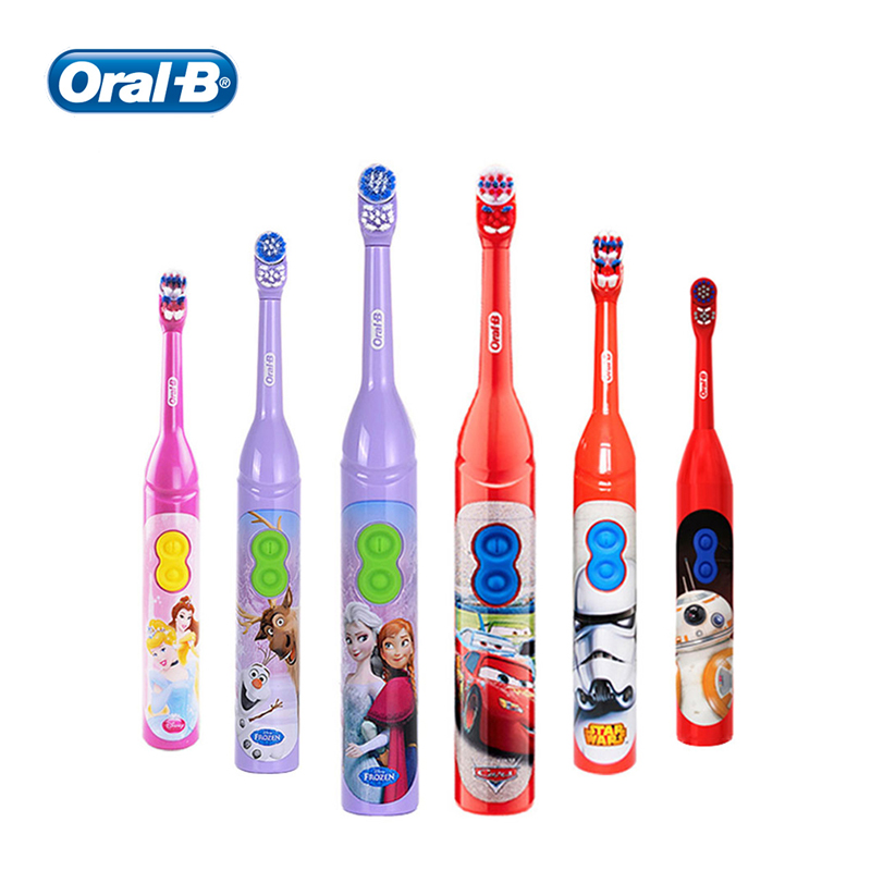 Oral B Kids Electric Toothbrush Extra Soft Bristles Cartoon Vitality AA Battery Gum Care Rotation Toothbrushes for Children 3+ image