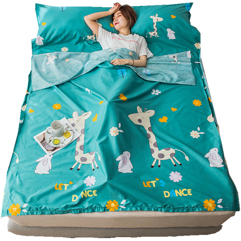 2019 New Products Cotton Travel Sleeping Bag Business Trip Travel Portable Live Hotel Across The Dirty 100% Cotton Bed Sheet