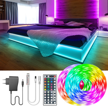 Listwy RGB led światła DC12V RGB elastyczna taśma wstęga Led 5M 10M 20M 30M taśmy Led światła listwy RGB led światła DC12V RGB elastyczna taśma tanie i dobre opinie RiRi won CN (pochodzenie) ROHS Salon 5000 Przełącznik 2 88 w m Edison 12 v Smd5050