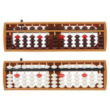 Portable Japanese 13 Digits Column Abacus Arithmetic Soroban Caculating School Math Learning Tool X6HB цены