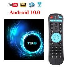 Caixa de tv smart 6k, android 10.0, 4gb, 32gb, 64gb, allwinner, h616, quad core, google media play 2gb 16gb conjunto caixa superior