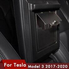 for Tesla model 3 2017- 2020 cars Armrest box cover storage box Hidden transparent storage box for tesla model3 accessories