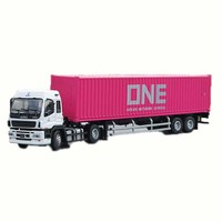 1:50 Scale Alloy Metal Truck Trailer Container Cargo Logistics Car Maersk Diecast Model Engineering Vehicle Model Toy Decoration