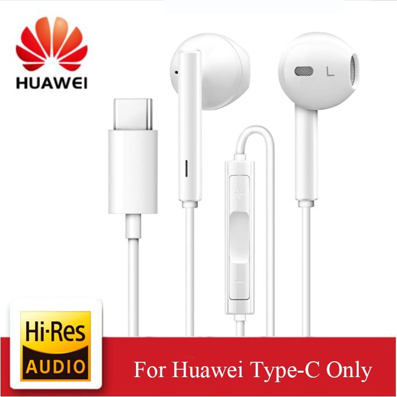 Original huawei cm33 fone de ouvido usb tipo c no ouvido fone de ouvido fone de ouvido microfone volume huawei companheiro 10pro 20 x rs p20 pro nota 10 fones de ouvido|Fones de ouvido|   -
