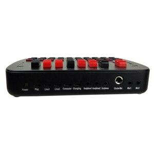Image 5 - BT Suono Dal Vivo Scheda di trasmissione In Diretta KTV Karaoke In Diretta Universale Volume Regolabile USB Mixer Audio Esterna Scheda Audio Studio Doppio