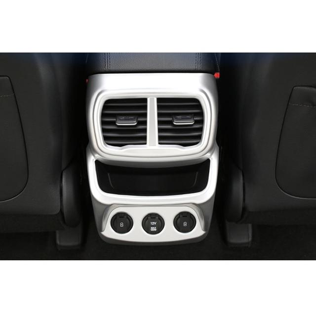 For Hyundai Santa Fe 2019 2020 Car Rear A/C Air Outlet Vent Cover Frame Sticker Car Molding Accessory 4