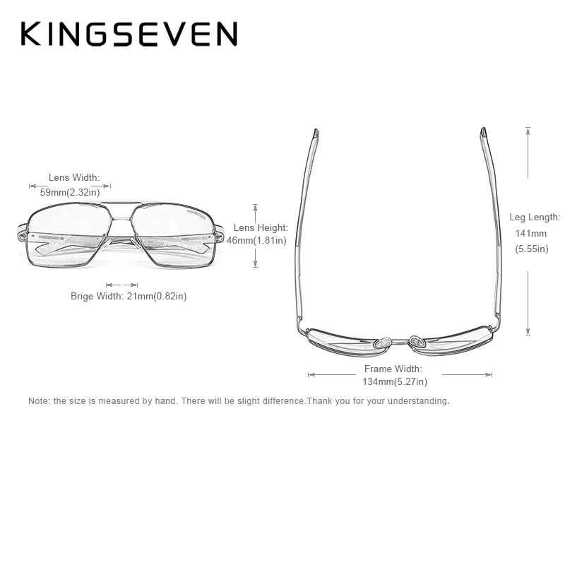 KINGSEVEN, алюминиевые мужские солнцезащитные очки, поляризованные линзы, брендовые, красные, дизайнерские, дужки, солнцезащитные очки, покрытие, зеркальные очки Oculos de sol 7719