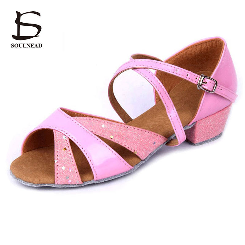 Wholesale Kids Dance Shoes Latin Salsa Dance Shoes For Girls Soft Sole Children Women Ballroom Shoes Dancing Sneakers Low Heels