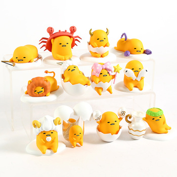Gudetama Zodiac Series Mini PVC Figures Brinquedo Lazy Eggs Toys Dolls 12pcs/set