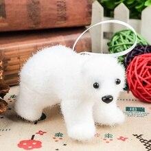 2019Christmas Tree Pendant White Cute bear Children Deer Home Gift Room Decoration