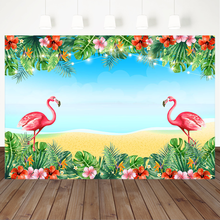 Гавайский пляж детский душ фон красный Фламинго Цветок День