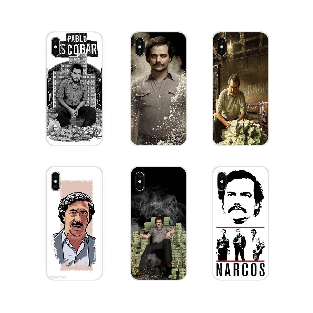 For Samsung <font><b>Galaxy</b></font> S3 S4 S5 Mini S6 S7 Edge S8 S9 <font><b>S10</b></font> Lite Plus Note 4 5 8 9 Pablo Escobar <font><b>Sticker</b></font> Transparent Soft Shell Covers image