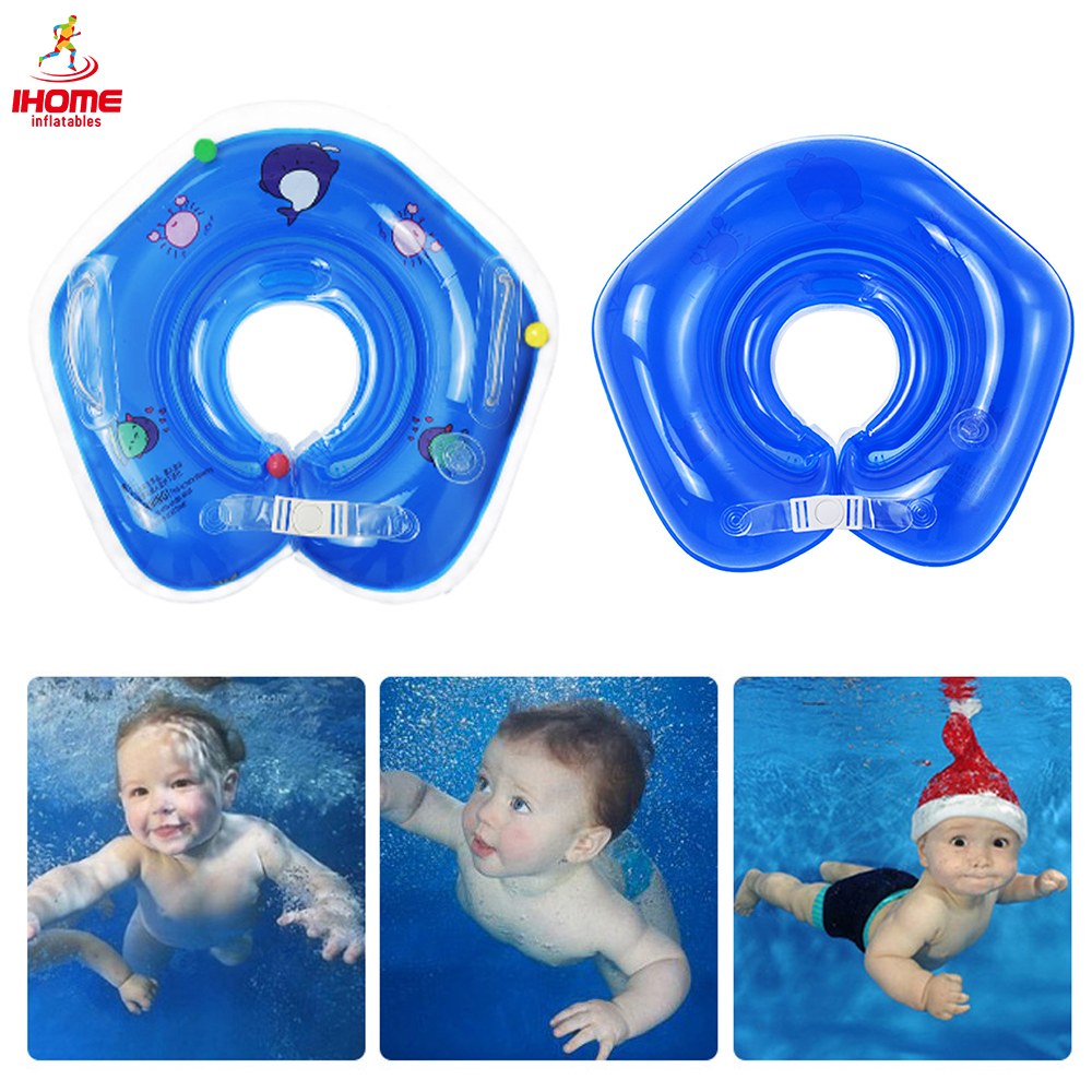 Inflatable Baby Swimming Circle 0-18months Newborn Neck Ring With Double Airbag Safety Handle Infant Pool Float Buoy Bathing Toy