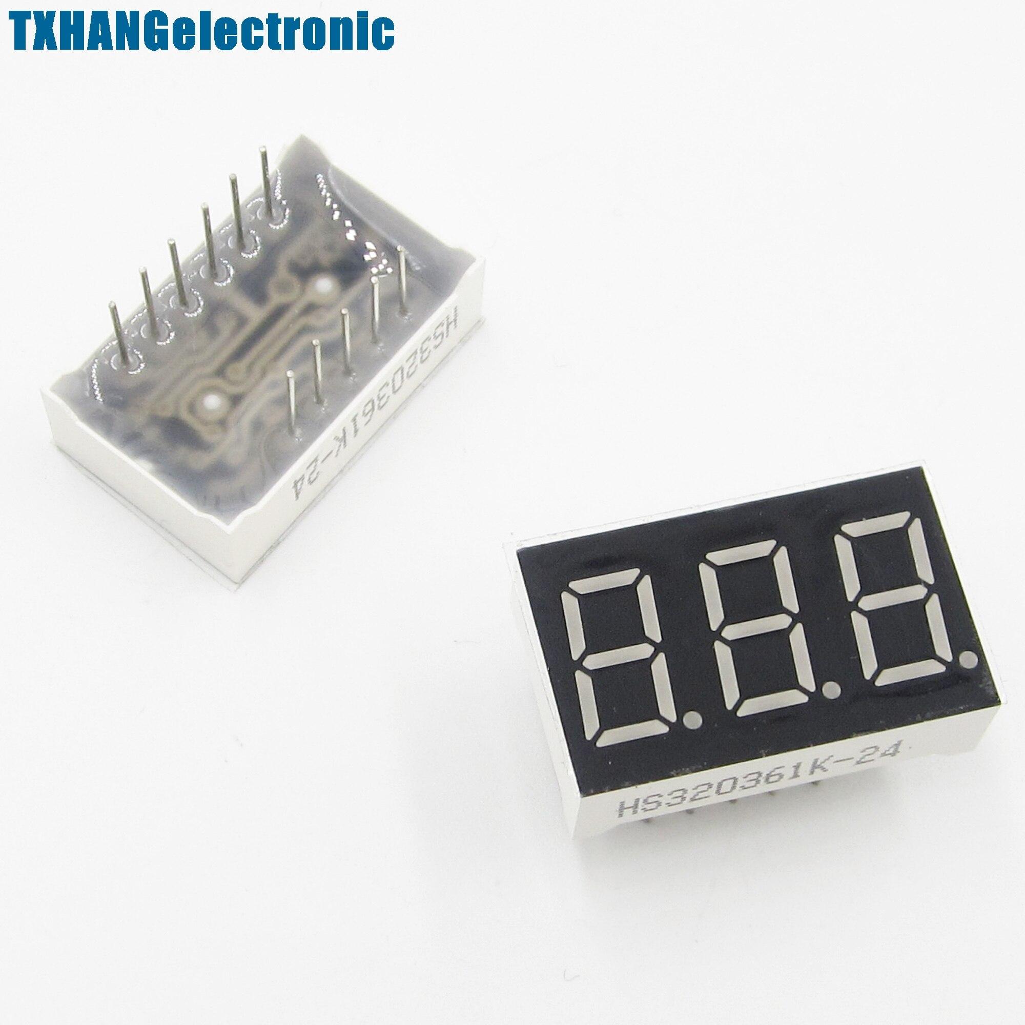 2PCS 0.56 Inch 3 Digit 7 Segment Common Cathode Red Led Display diy electronics