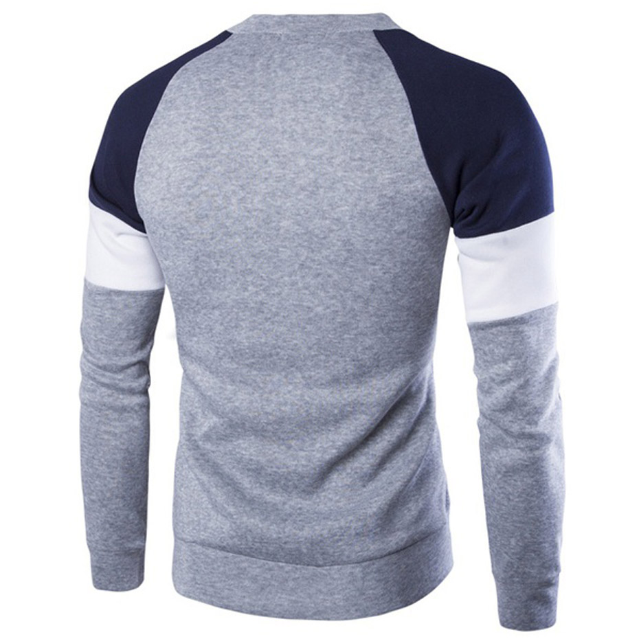 ZOGAA Winter Men Sweater Slim Fit Knittwear Casual Pullover Male O-neck Patchwork Sweater Men Pull Homme Tops Men Clothing 2019