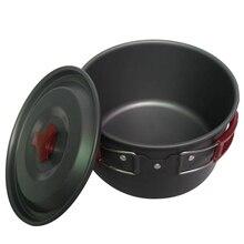 Pot de Camping en alliage daluminium pour lextérieur, ustensiles de cuisine de Camping pour plats de pique nique, Pot de table Portable pour randonnée, 3l 19x11CM