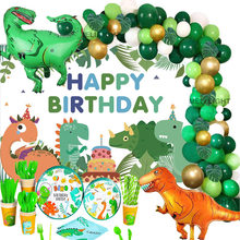 Dinosaur Party Decorations Dino Balloon Arch Garland Green Balloons Arch Kit For Kids Baby Shower Boy 1st Birthday Party Decor