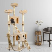 Cat Tree  Scratch Posts Scratching Board Toy Tower Kitten Sisal Rope Pet C04