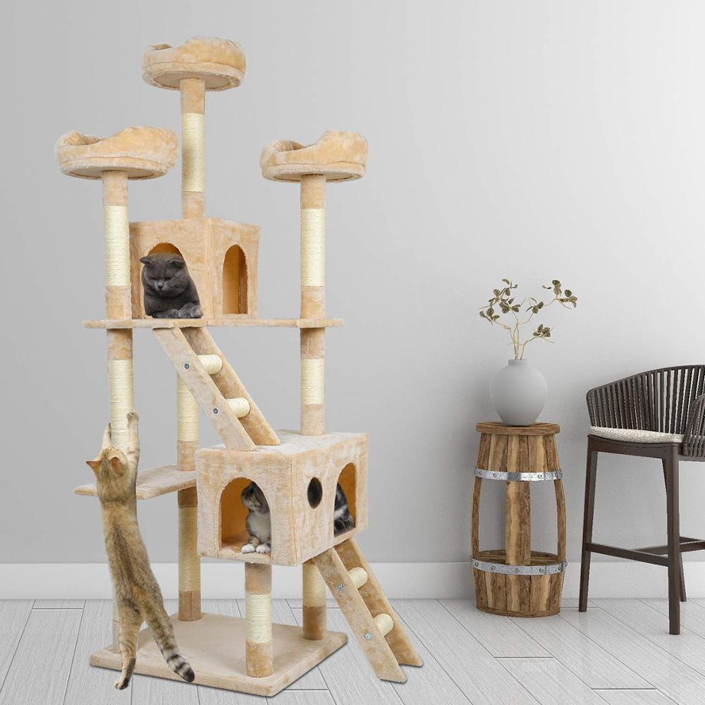 Chat arbre à gratter poteaux chat à gratter conseil jouet tour chaton à gratter poteaux Sisal corde Pet jouet C04