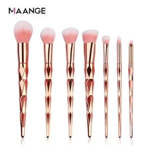 Image 1 - MAANGE 7/10Pcs Diamond Makeup Brushes Set Powder Foundation Eye Shadow Blush Blending Cosmetics Beauty Make Up Brush Tool Kits