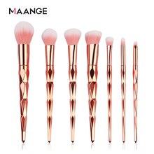 Maange 7/10 pçs pincéis de maquiagem diamante conjunto pó fundação sombra olho blush mistura cosméticos beleza compõem escova ferramenta kits
