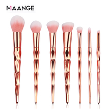 Maange 7/10Pcs Diamond Make Up Kwasten Set Poeder Foundation Oogschaduw Blush Blending Cosmetica Beauty Make Up Borstel tool Kits