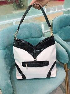 Image 4 - 2020 nouvelle mode diamant femmes sacs à main en cuir verni bandoulière sac à bandoulière strass grande capacité paquet sacs de messager
