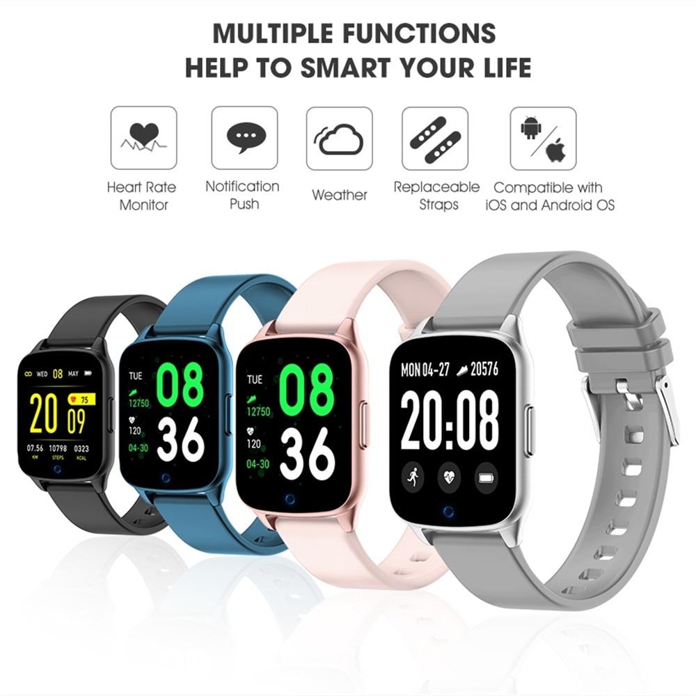 2019 Smartwatch Voor Xiaomi Android Apple ios Telefoon Fitness Armband Hartslag Sleep Monitor KW17 Smart Horloge PK Amazfit Gts