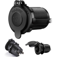 Waterdichte Auto 12V Socket Reparatie Marine Motorcycle Atv Rv Adapter Plug Outlet Charger Sigarettenaansteker