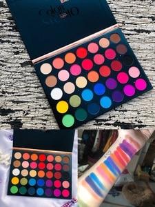 Image 3 - Palette de fards à paupières émaillés, beauté, Palette dombre à paupières colorée, palette à paillettes, scintillante, maquillage Pigment mat, Palette dombre à paupières