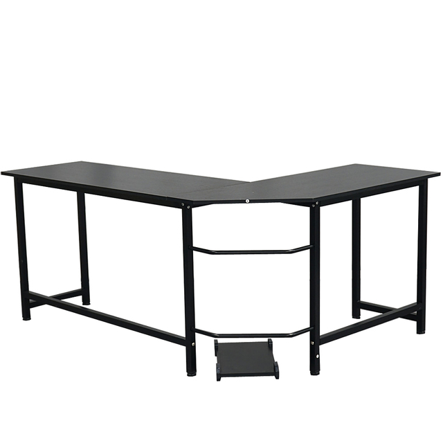 L-Shaped Desktop Computer Desk Study Table Office Table Easy to Assemble Can Be Used in home and office Black 2