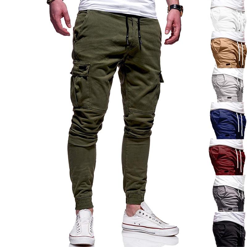 Men Pants New Fashion Men Jogger Pants Fitness Bodybuilding Gyms Pants Runners Clothing Autumn Sweatpants Size 3XL Mid