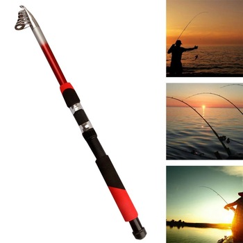 New 1.8M 2.1M 2.4M 2.7M 3.0M 3.6M 4.5M Portable Telescopic Fishing Rod Glass Fiber Fishing Pole Travel Sea Fishing Spinning Rod