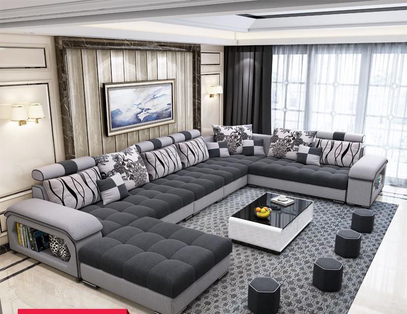 Meubles fournis par l'usine canapés de salon/canapé-lit en tissu canapé Royal