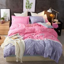 4Pcs/Set Bedding Set Bed Textile Products 18 Style Home Fashion Stripe Cotton Sheet Pillowcase & Duvet Cover