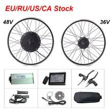 36v 48v kit de bicicleta elétrica 250w 350 500 1000w 1500 com freio regenerativo ebike kit conversão para mtb disco da bicicleta/v freio