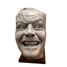 Sculpture Of The Shining Bookend Library Here's Johnny Sculpture Resin Book stand Desktop Ornament Book Shelf