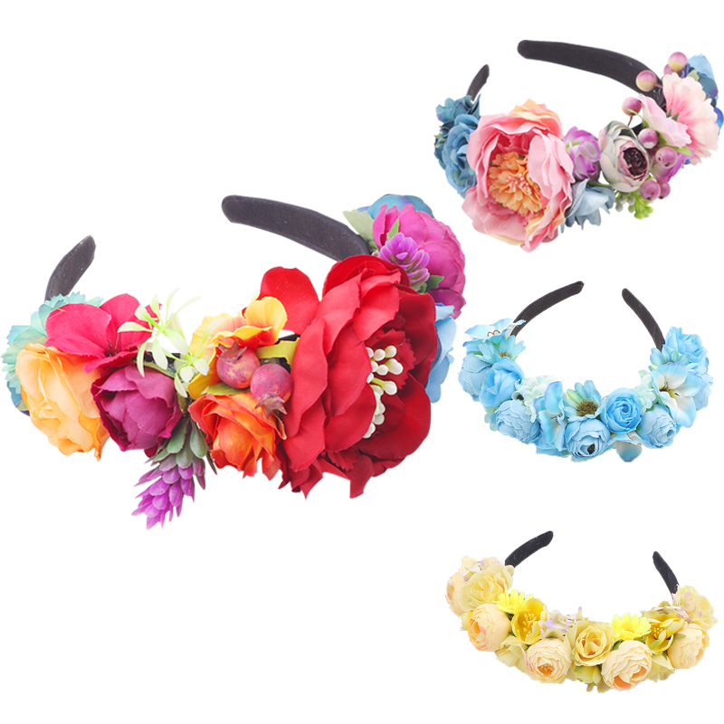 Festival Party Princess Wedding Party Holiday Flower crown hair accessories girl headbands